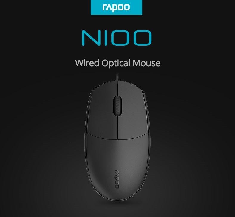 Rapoo N100 Wired Usb Optical 1600Dpi Mouse