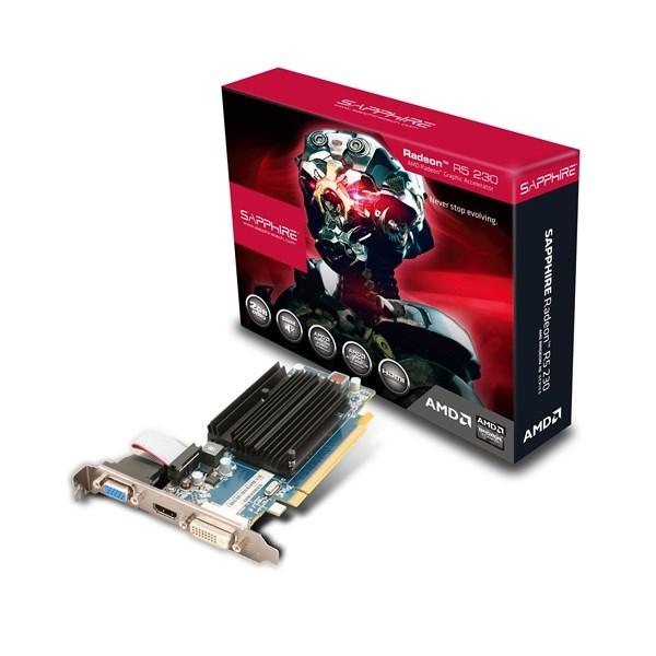 Sapphire Amd R5 230 2G DDR3 Pci-E Hdmi / Dvi-D / Vga (Uefi) Vga Card, LP Brackets Included