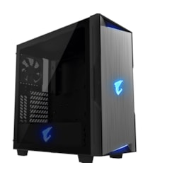 Gigabyte Ac300g Tempered Glass Atx Mid-Tower PC Gaming Case 2X3.5' 3X2.5' RGB Detachable Dust Filter Liquid Cooling Compatible Psu Shroud Hdmi Usb-C