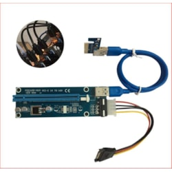 Astrotek Pci-E Pci Express 16X Adapter Riser Card Extension Power Usb 3.0 Internal Cable - Used For Mining / BTC / Eth Crypto Server 008 Version