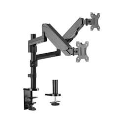 Brateck Dual Minitor Full Extension Gas Spring Dual Monitor Arm (Independent Arms)