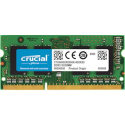 Micron Crucial DDR3L Sodimm PC12800-8GB 1600Mhz 512X8 CL11 1.35V/1.5V Notebook Memory Retail Pack [CT102464BF160B]