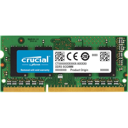 Micron Crucial DDR3L Sodimm PC12800-16GB (1x16GB) 1600Mhz 512X8 CL11 Notebook Memory. Supports Both 1.5V And 1.35V