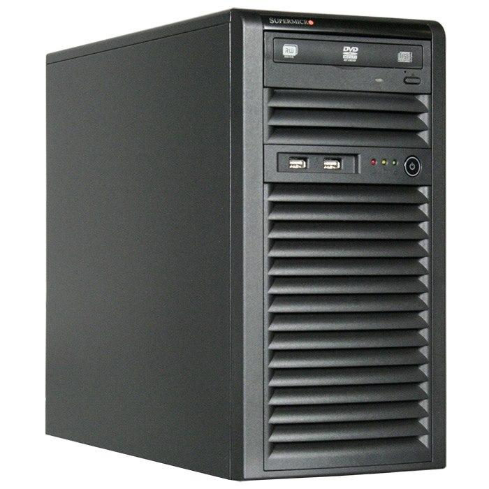 SuperMicro SuperChassis 731i-300B, Mini Tower, Suits Micro Atx MB, 2 X Front Usb 2.0, 2 X 5.25' HDD Bays, 4 X 3.5' HDD Bays, No Psu, Black