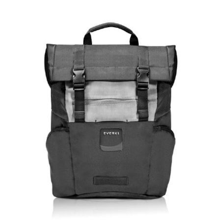 """Everki ContemPRO Roll Top Laptop Backpack, Up To 15.6"""" - Black (Ekp161) With Dedicated Tablet/iPad/Pro/Kindle Compartment Up To 13"""""""