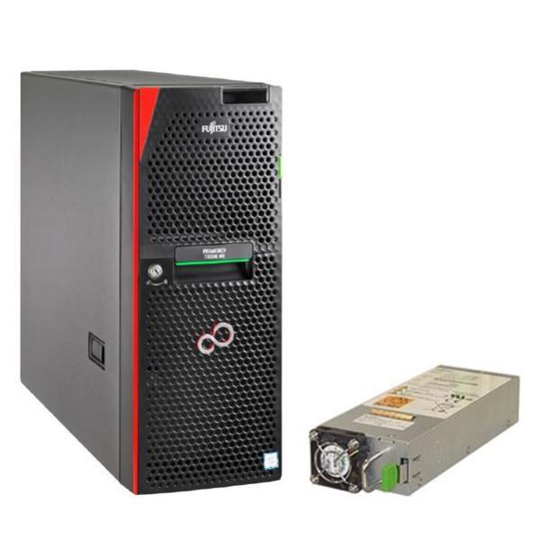 Fujitsu Bundle Fujitsu TX1330 M3 Server, E3-1230V6, 8GB DDR4, 2X 2TB Sata, DVDRW, 450W + 380W Internal Battery Unit