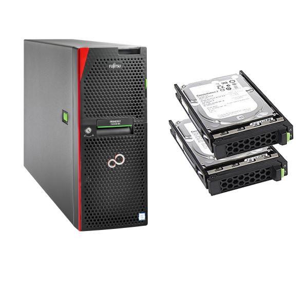 Fujitsu Bundle Fujitsu TX2550 M4, Xeon Silver 4110 8C (1/2), 16GB DDR4 (1/24), DVD-RW, EP420i, RMK, 800W (2/2), Tower, 3YR Onsite, 2 X 600GB Sas 10K