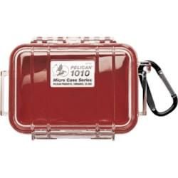 Pelican 1010 Micro Case - Clear With Red