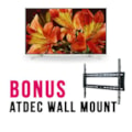 """Sony Bravia Commercial 65"""" LCD - QFHD 4K (3840 X 2160), 24/7, Led, HDR, Android, Anti Glare, Brightness (620-CD/M2) / ***Free Atdec Wall Mount**"""