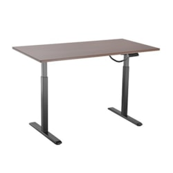 Brateck 2-Stage Single Motor Electric Sit-Stand Desk Frame With Button Control Panel-White Colour