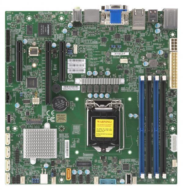 Supermicro Workstation MotherBoard, X11SCZ-F, Uatx, Intel C246, Lga1151, E-2200, DDR4-2666 Udimm, 2 X DisplayPort, M.2, 2 X GbLAN,