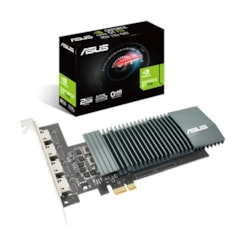 Asus nVidia GT 710-4H-SL-2GD5 Pci Express Graphic Card, GDDR5 2GB, Fanless, 4xHDMI, 954 Boost, Non-RGB