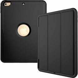 iPad 9.7 2018 2017 6th Gen Shockproof Full Protective Cover Hybrid Hard Case black