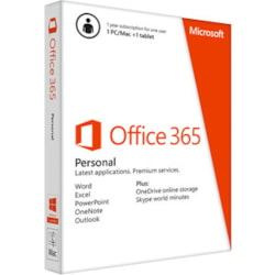 Microsoft Office 365 Personal 32/64-bit - Subscription Licence - 1 Year - Non-commercial