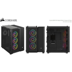 Corsair Crystal 680X RGB Computer Case - Micro ATX, ATX, Mini ITX, EATX Motherboard Supported - Mid-tower - Steel, Tempered Glass, Plastic - Black - 11.58 kg