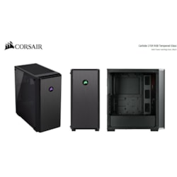 Corsair Carbide 175R RGB Computer Case - ATX Motherboard Supported - Mid-tower - Tempered Glass - Black