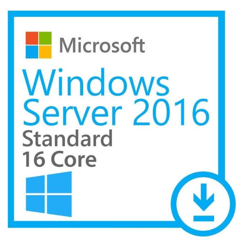 Microsoft Windows Server 2016 Standard 64-bit - License and Media - 16 Core - OEM