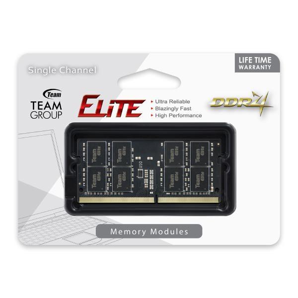 Team Elite Sodimm PC-19200 DDR4 2400MHz 1x4GB CL16 260Pin, 1.2V