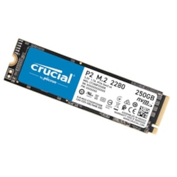 Crucial P2 500GB M.2 (2280) NVMe PCIe SSD - 3D Nand 2300/940 MB/s 300TBW 1.5Mil HRS MTTF Smart & Trim Acronis True Image Cloning Software 5YRS WTY
