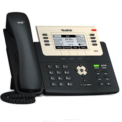 Yealink 6 Line Ip Phone, 21 Program Keys/Blf/Xml/Poe/Hdv/Ehs Sup/Dualgig Ports, PS Optional