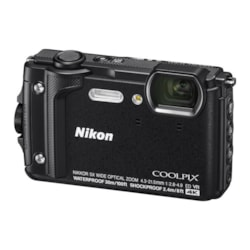 Nikon Digital Compact Camera Coolpix W300, Black,16MP, 5X Optical Zoom, Fixed Lense, F/2.8-4.9, All Weather, Waterproof, 4K Recording,SnapBridge, GPS