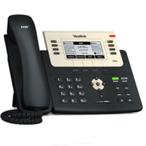 Yealink 6Lipphone,240X120lcd,21Prog Keys/Blf/Xml/Poe/Hdv/Ehs Sup/Dualgig Ports.No Adpt