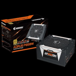 Gigabyte Ap850gm Aorus 850W Atx Psu Power Supply 80+ Gold Modular >90% 135MM Fan Black Flat Cables Single +12V Rail Japanese Capacitors >100K HRS MTBF