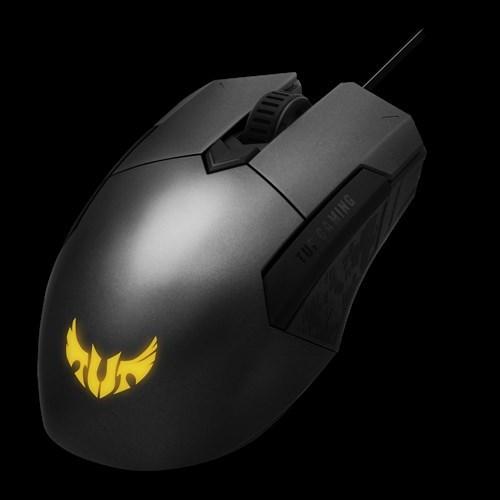 Asus Tuf Gaming M5 Wired Ambidextrous Ergonomic RGB Gaming Mouse, Aura SYNC, 6200Dpi (P304)