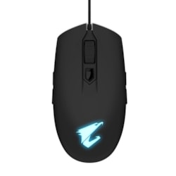 Gigabyte Aorus M2 Optical Gaming Mouse Usb Wired 6200 Dpi 12500 FPS 50G 3D Scroll 50 Million Click Matte Black RGB Fusion On-The-Fly Dpi Adjustment