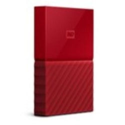 Western Digital WD MY Passport 2TB Portable Hard Drive - Red