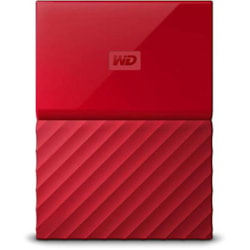 Western Digital WD WDBYFT0040BBK MY Passport 4TB Usb3.0 Portable Hard Drive- Red- Warranty 3 Years