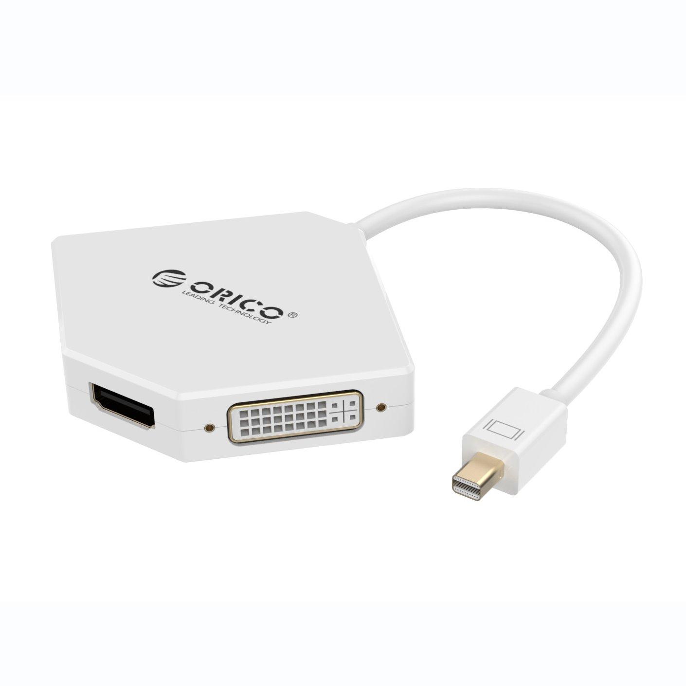 Orico Mini Display Port To Hdmi / Vga / Dvi Adapter - White