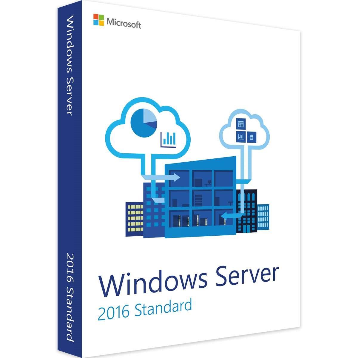 Leader Computer Microsoft Windows Server Standard 2016 16 Core - Leader Version