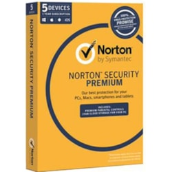 Norton Security Premium , Oem Software, Single Pack, 5 User, 1 Year License (With Media)