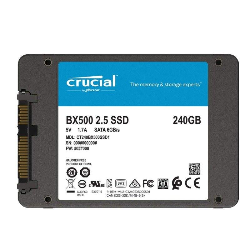 Micron Crucial BX500 240GB 3D Nand Sata 2.5-Inch SSD