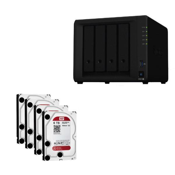 Western Digital Synology Bundle - DS918+ X 1 Nas + WD Red 6TB HDDs X 4