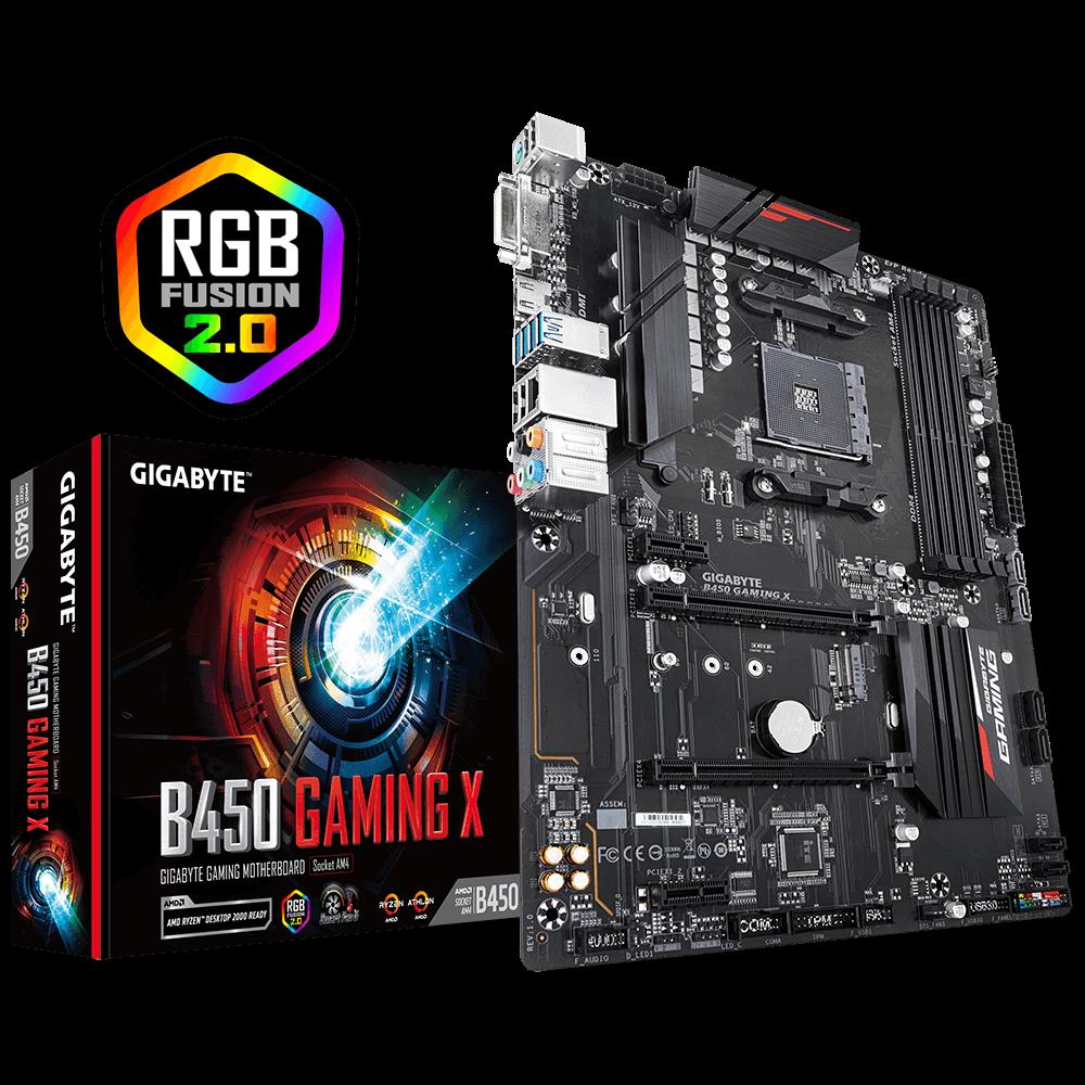 Gigabyte B450 Gaming X MB, Am4, Atx, 3YR