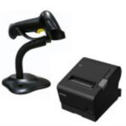 Epson Tm-T88vi-581 Thermal Receipt Printer Built-In Ethernet, Usb, Serial, With Psu &Amp; Alogic 1M Power Cable Bundled With Birch Barcode Scanner