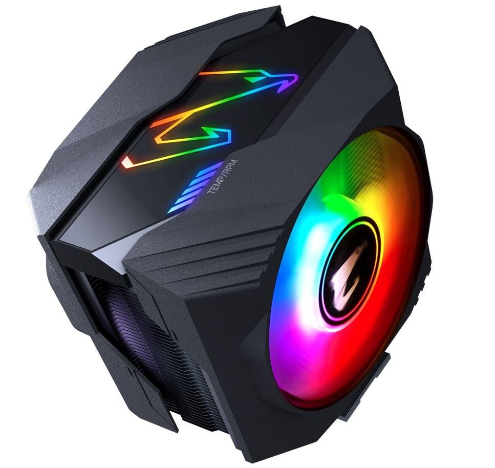 Gigabyte Aorus Atc800 Multi Socket Cpu Air Cooler RGB Dual 120MM Fan For Intel 2066 2011 1366 1156 1155 1151 1150 Amd Am4 FM2+ FM2 Am3+ Am3 ~Atc700