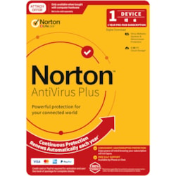 Norton Anti Virus Plus, 2GB, 1 User, 1 Devices, 12 Months, PC, Mac, Android, Ios, DVD