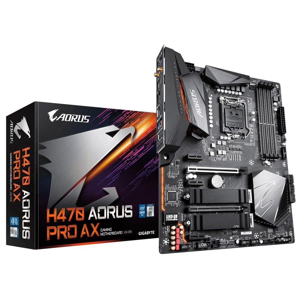 Gigabyte H470i Aorus Pro Ax MB,1200,2xDDR4,4xSATA,2xM.2,USB-C,USB3.2Gen1,WIFI,MINI-ATX,3YR