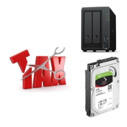 Synology Tax Saver - DS720+ + 2 X Seagate 4TB IronWolf Hard Drives