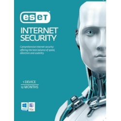 Eset Internet Security Oem 1 Device 1 Year Download Physical Printed Download Card