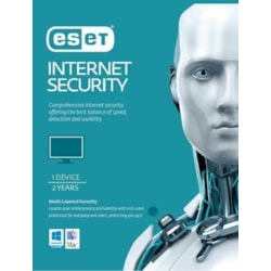 Eset Internet Security 1 Device 2 Years Retail Physical Printed Download Card