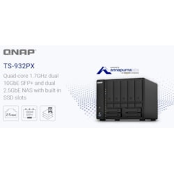Qnap TS-932PX-4G No Rail 9-Bay Al324 Quad Core 1.7 GHZ 4GB Ram