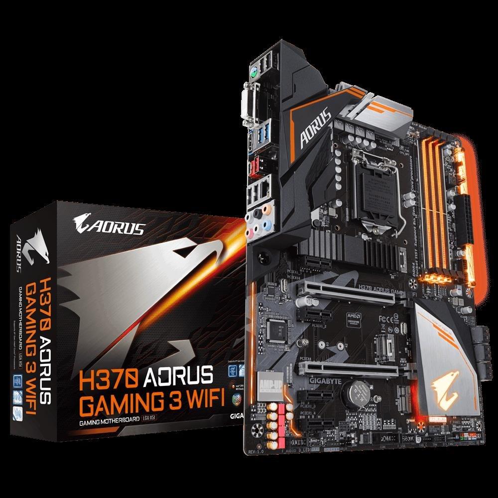Gigabyte H370 Aorus Gaming 3 Wifi MB, 1151, 4xDDR4, 6xSATA, 2xM.2, Usb3.1, Atx, 3YR
