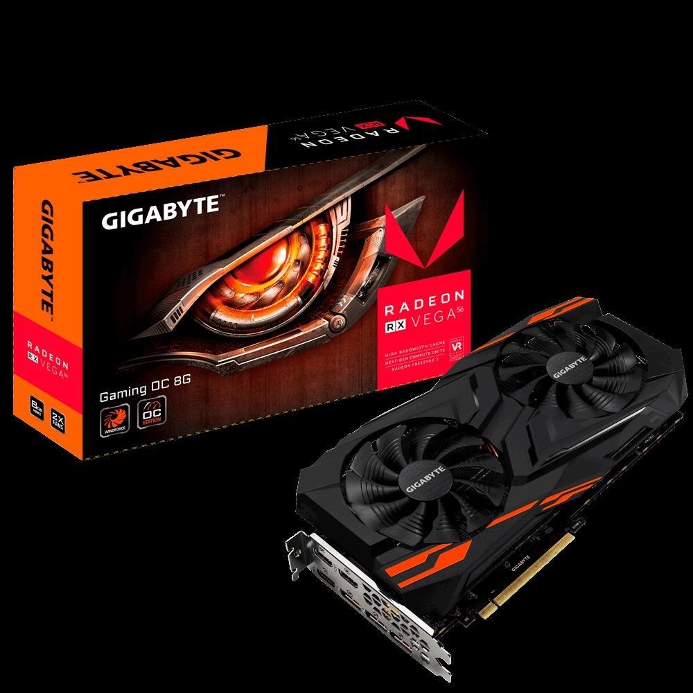 Gigabyte Radeon RX Vega56 PCIe X16, 8GB HBM2, Hdmi, DP, Gaming Oc, 3YR
