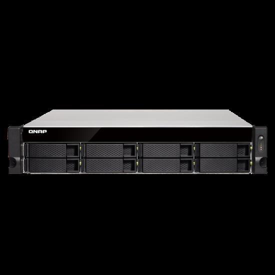 Qnap Ts-873U-4G,8Bay Nas(No Disk),4Gb,Amd QC-2.1GHz,10GbE SFP+(2),GbE(4),M.2(2),2U,2YR WTY