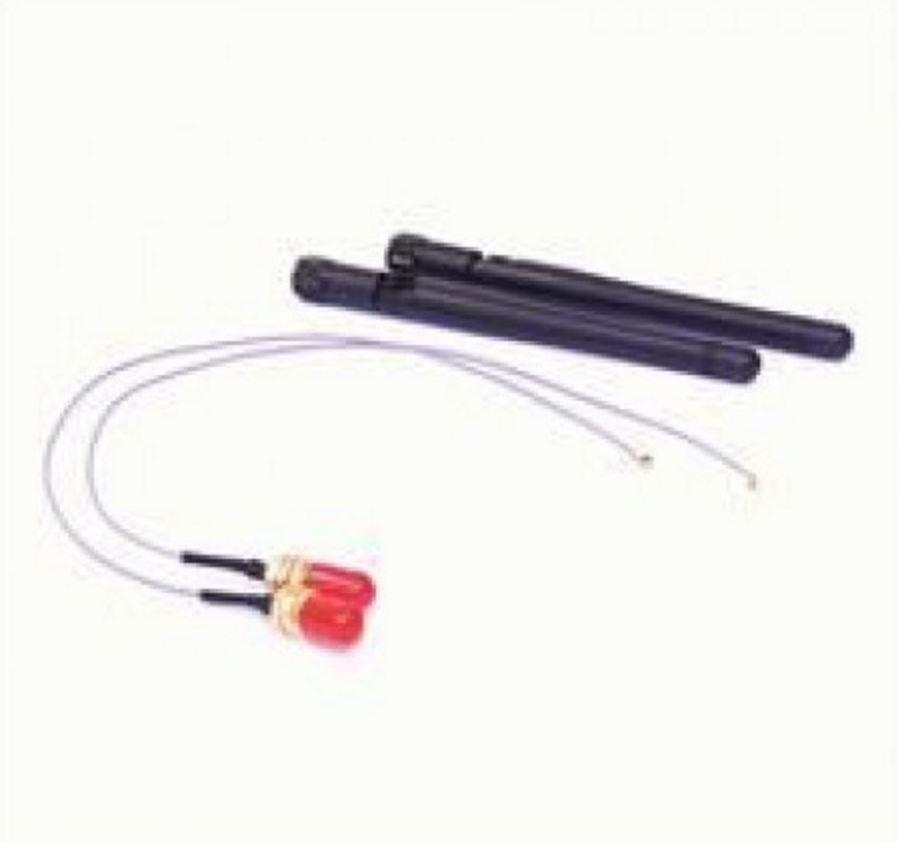 Astrotek At-Ipxset-50 Internal Wi-Fi Antenna Kit - 2X Ipx To Rp-Sma Wifi Cable 50CM Grey + 2X 5Ghz Antenna Black LS