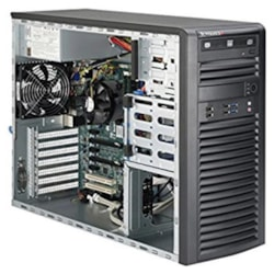 Supermicro SuperWorkstation 7039A-I, 4U Tower, Dual Socket Lga3647, 16X Dimm, Intel C621, 2 X GB Lan, Impi, 4 X 3.5' HDD Fixed, 1200W Psu